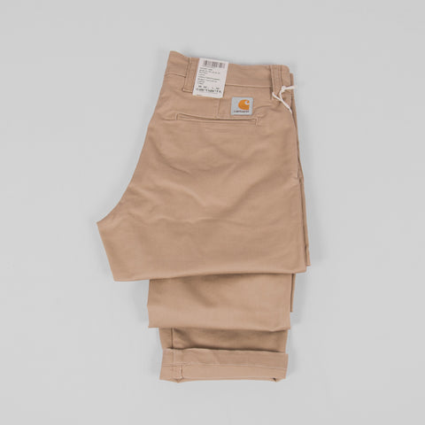 Carhartt Sid Pants - Leather Rinsed Detail