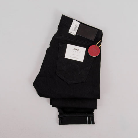 Edwin Slim Tapered Jeans - Kaihara Black Selvage 2