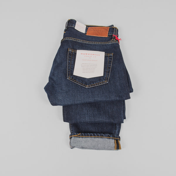 Hawksmill Denim Co Slim Tapered Jeans - Dark Wash Detail