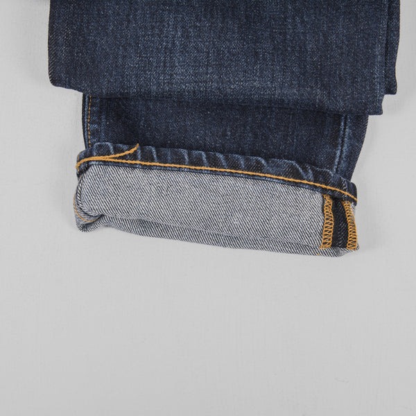 Hawksmill Denim Co Slim Tapered Jeans - Dark Wash Roll Up