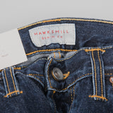 Hawksmill Denim Co Slim Tapered Jeans - Dark Wash Button