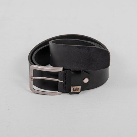 Lee Small Logo Leather Belt - Black 1
