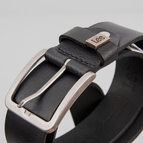 Lee Small Logo Leather Belt - Black 2