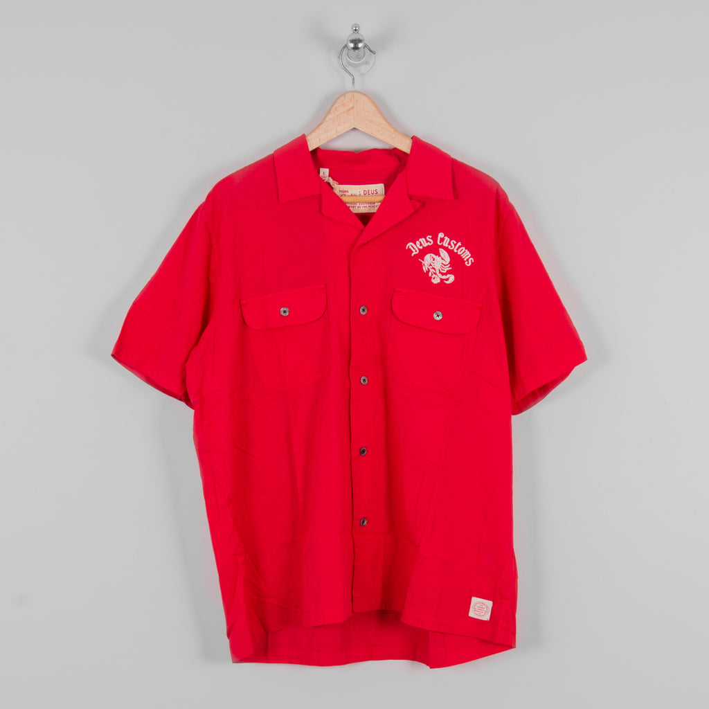 Deus ex Machina Smile Back S/S Shirt - Red Molten 1