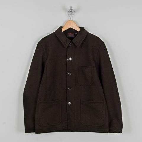 Vetra Soft Melton Workwear Jacket - Brown 1