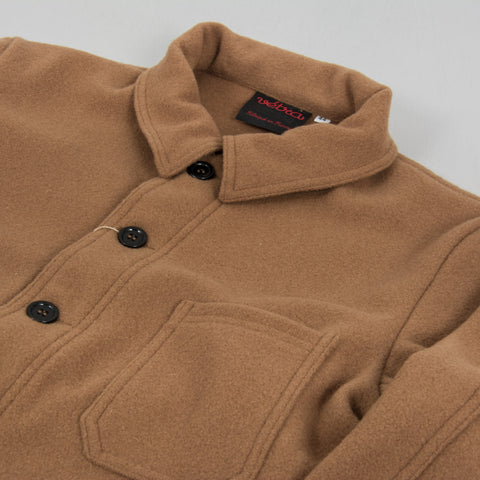 Vetra Soft Melton Workwear Jacket - Camel 2