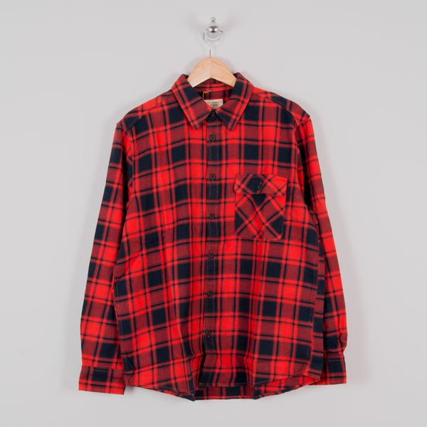 Nudie Sten Flannel Check Shirt - Red Alert 1
