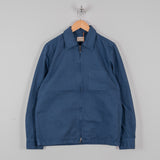 Nudie Sten Canvas Zipped Shirt - Oden Blue 1