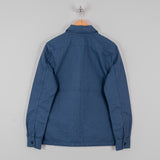 Nudie Sten Canvas Zipped Shirt - Oden Blue 3