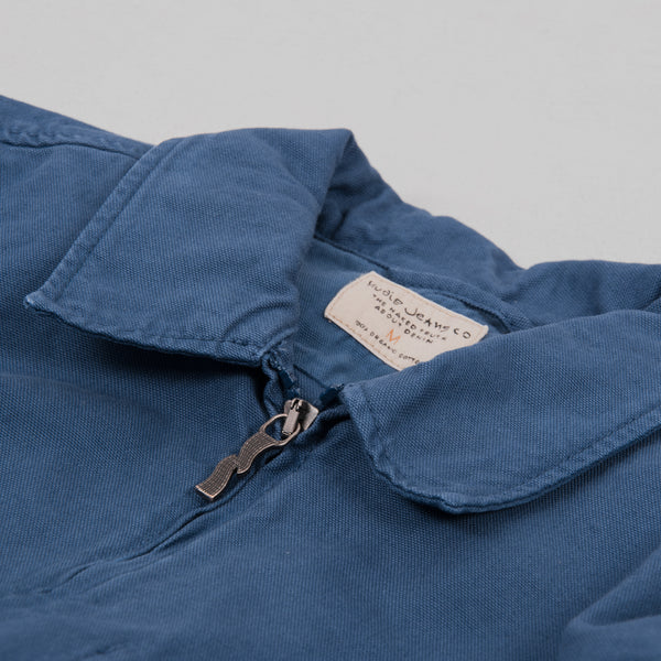 Nudie Sten Canvas Zipped Shirt - Oden Blue 2