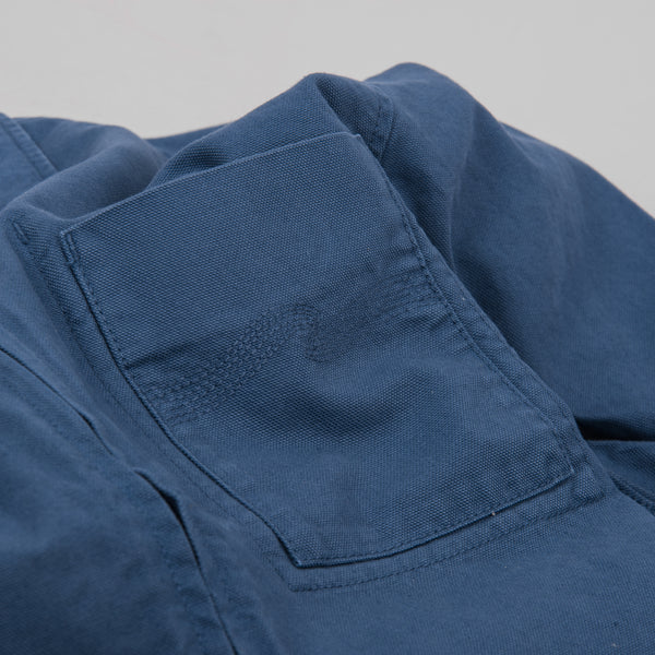 Nudie Sten Canvas Zipped Shirt - Oden Blue 4