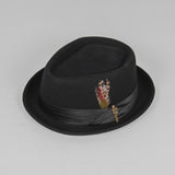 Brixton Stout Pork Pie Hat - Black