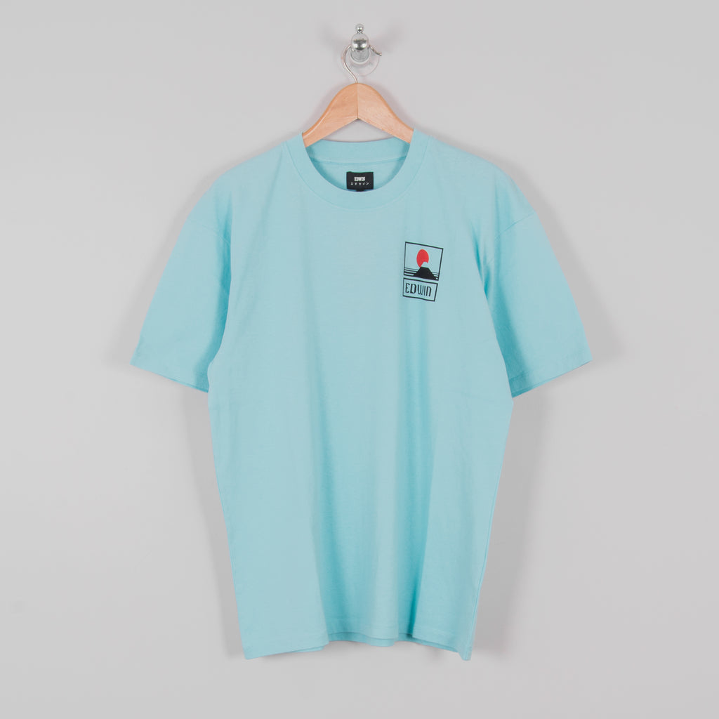 Edwin Sunset On Mt Fuji S/S Tee - Angel Blue 1