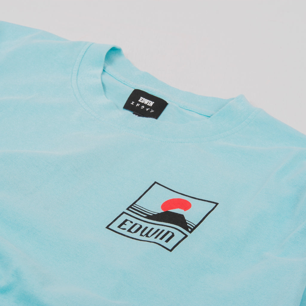 Edwin Sunset On Mt Fuji S/S Tee - Angel Blue 2