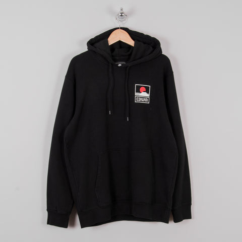 Sunset on Mt Fuji Hooded Sweat - Black 1