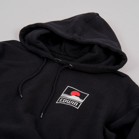 Sunset on Mt Fuji Hooded Sweat - Black 2