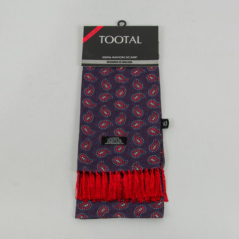 Tootal TB 8201 - 291 Rayon Scarf - Navy / Red 1
