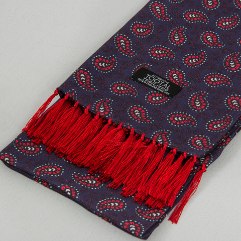 Tootal TB 8201 - 291 Rayon Scarf - Navy / Red 2