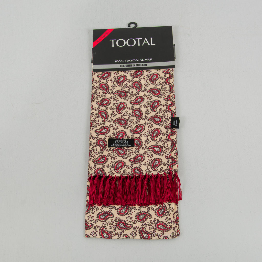 Tootal TB 8201 - 748 Rayon Scarf - Light Gold / Burgundy 1