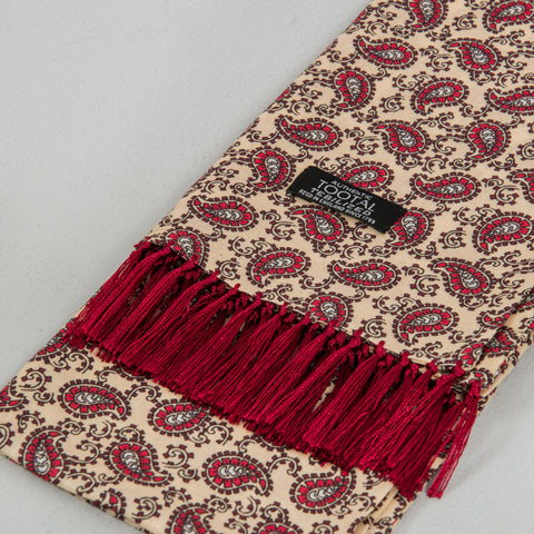 Tootal TB 8201 - 748 Rayon Scarf - Light Gold / Burgundy 2