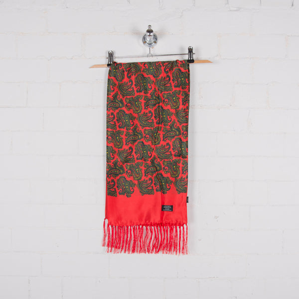 Tootal TL9904 Short Silk Scarf Red/Green