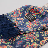 Tootal TV7902- 058 Paisley Silk Scarf - Navy 2