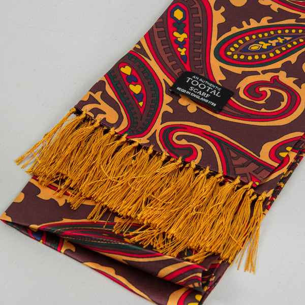 Tootal TV 8905 Silk Scarf - Oxblood 2