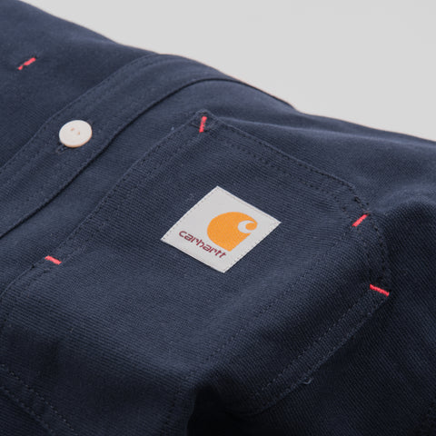 Carhartt Tony L/S Shirt - Dark Navy Rigid