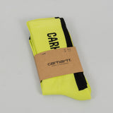 Carhartt WIP Turner Socks - Lime / Black 1