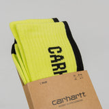 Carhartt WIP Turner Socks - Lime / Black 2