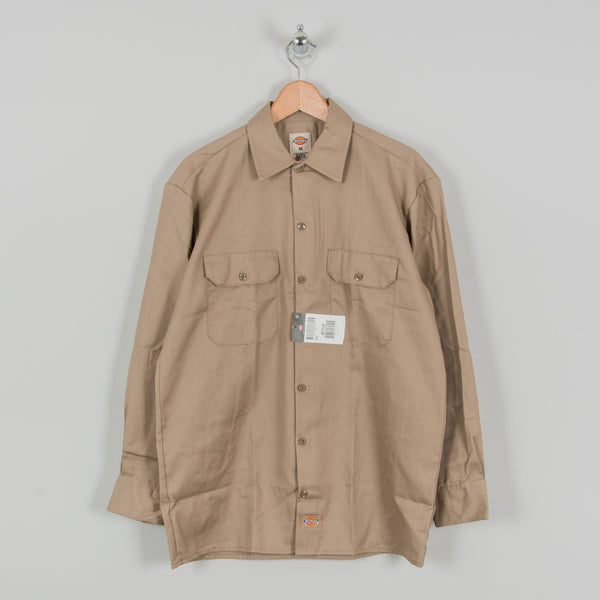 Dickies L/S Work Shirt - Khaki 1