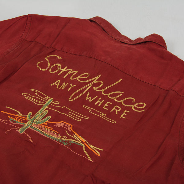 Nudie Vidar Someplace Anywhere L/S Shirt - Brick / Red 2