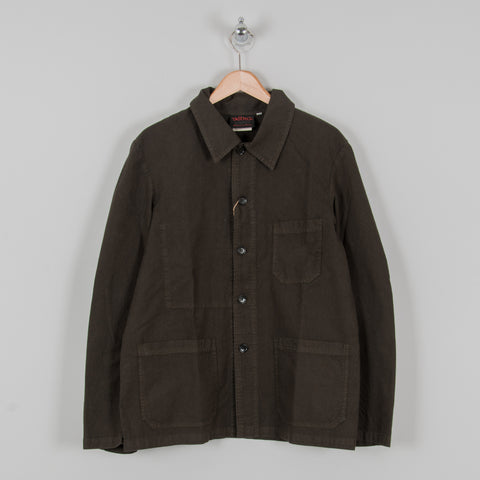 Vetra Weaved Workwear Jacket Khaki 1