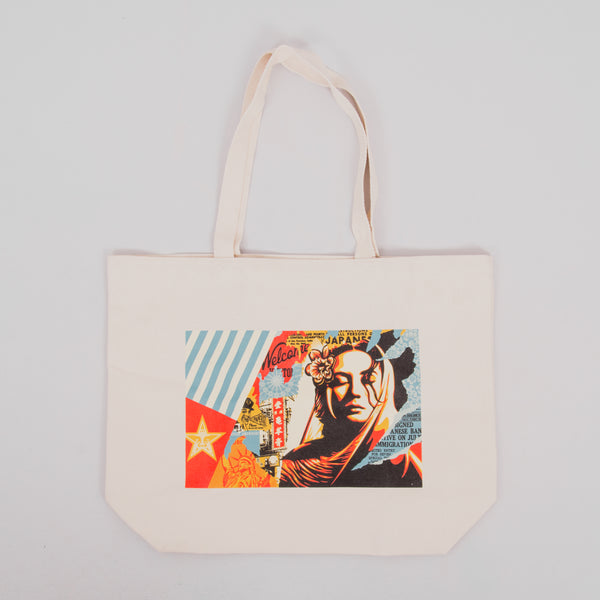 Obey Welcome Visitor Tote Bag - Natural 1