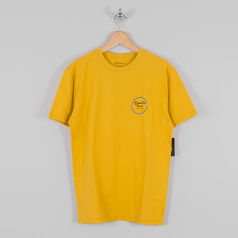 Brixton Wheeler II S/S Premium Tee - Sunset Yellow 1