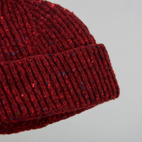 Donegal Wool Beanie - Burgundy 2