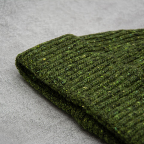 Donegal Wool Beanie - Green 2