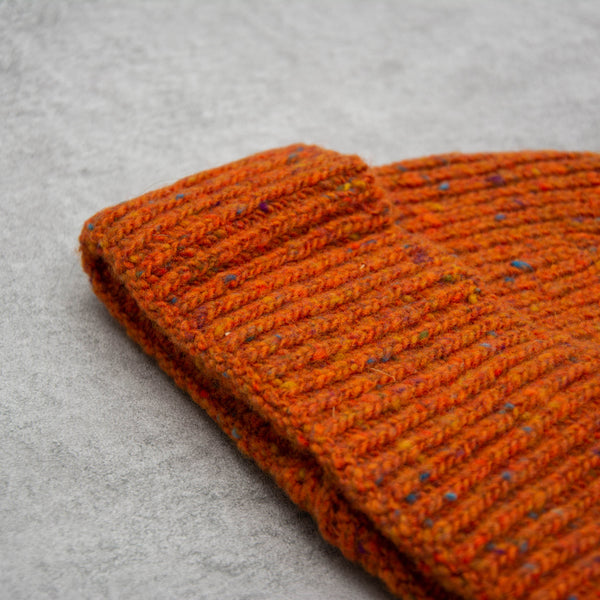 Donegal Wool Beanie - Orange 2