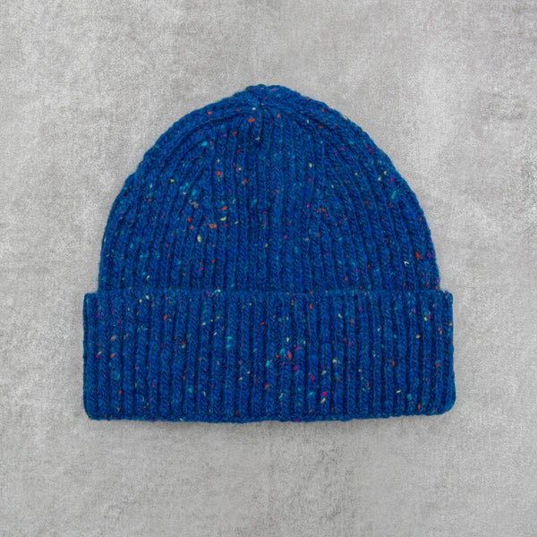 Donegal Wool Beanie - Royal 1