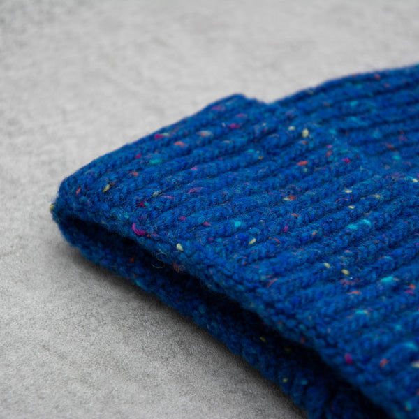 Donegal Wool Beanie - Royal 2