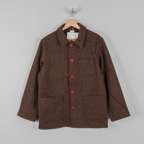 Le Laboureur Wool Work Jacket - Marron Brown 1