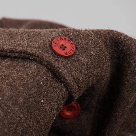 Le Laboureur Wool Work Jacket - Marron Brown 2
