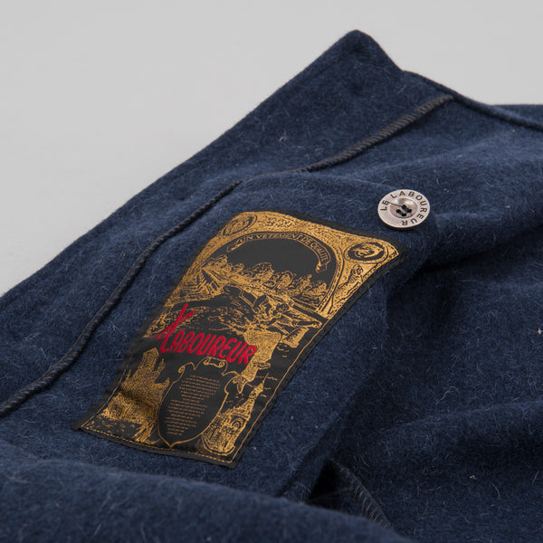 Le Laboureur Wool Work Jacket - Navy 3