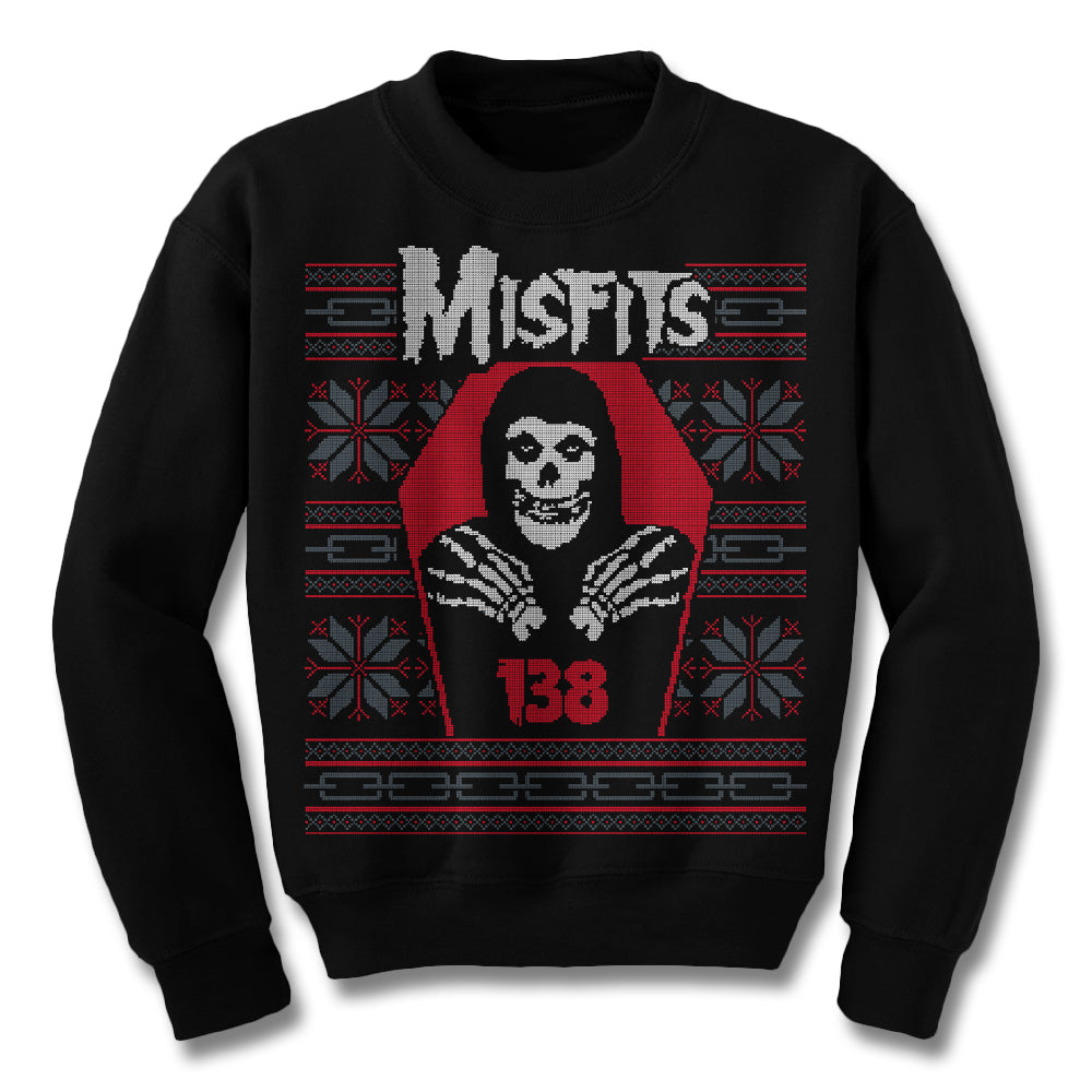 Official Misfits Crimson Christmas Ugly Sweatshirt | Misfits Shop