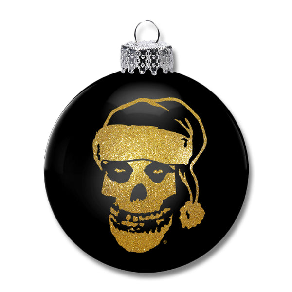 Santa Fiend Ornament (Gold)