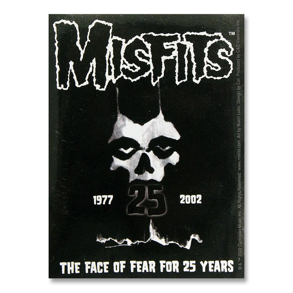 25th Anniversary Logo Sticker - Misfits Shop