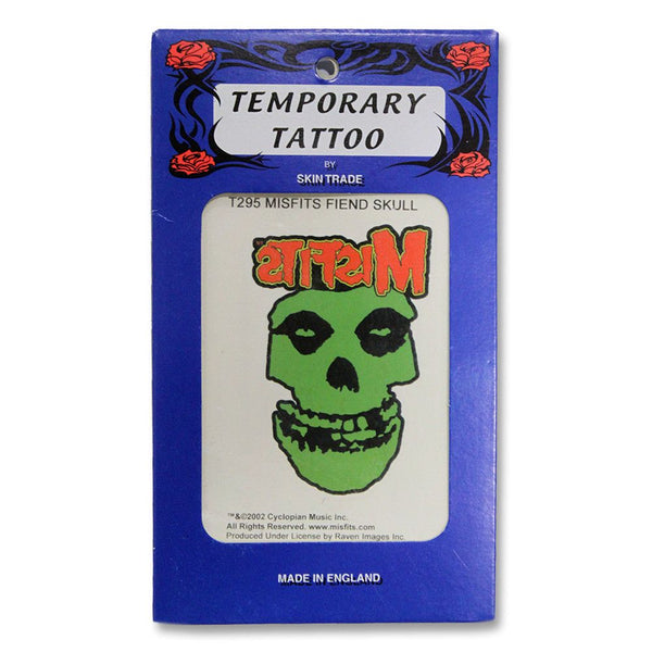 Classic Fiend Skull Temporary Tattoo - Misfits Shop