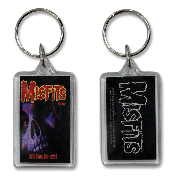 Cuts Back Skull Clear Keychain - Misfits Shop