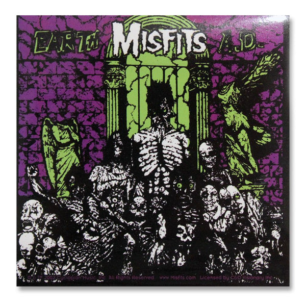 Earth AD Sticker - Misfits Shop