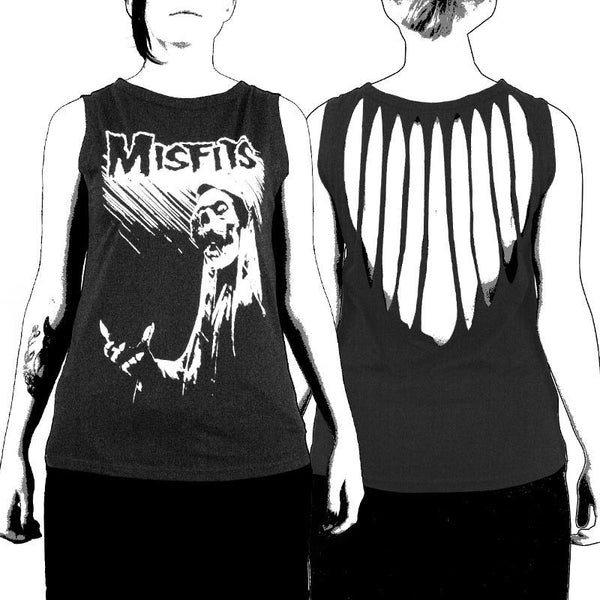 Devil's Rain Slashed Women's Tank Top - Misfits Shop - 1